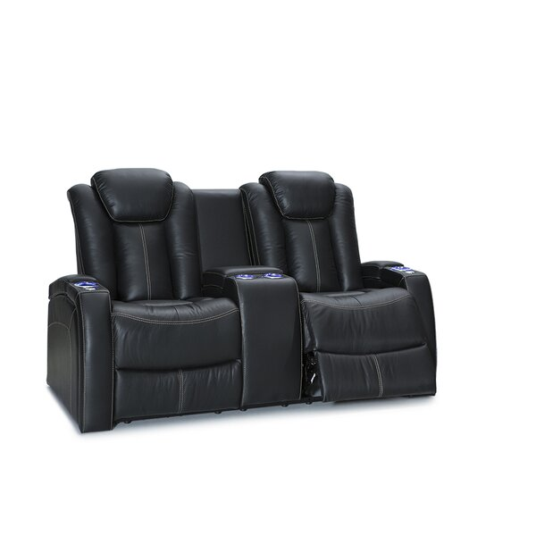 Leather Home Theater Loveseat By Latitude Run