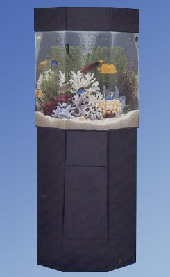 Aqua 35 Gallon Custom Pentagon Aquarium with Stand by Midwest Tropical Fountain