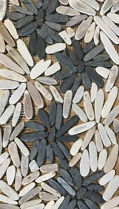 Blooming Glory Random Sized Natural Stone Mosaic Tile in Black/Gray by FuStone