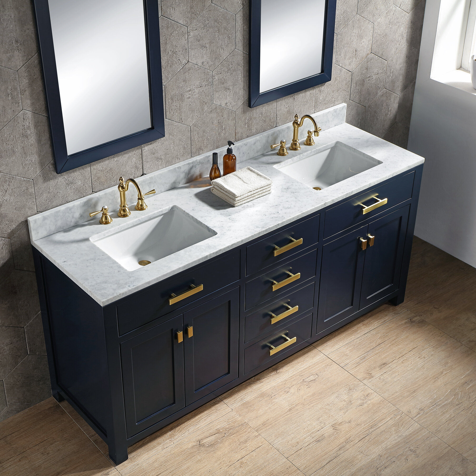 Crisler 72 Double Bathroom Vanity Set