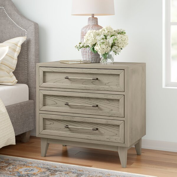 Bangor 3 Drawer Nightstand By Three Posts by Three Posts New Design