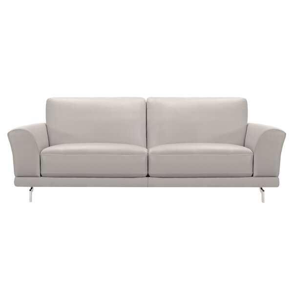 Randalholme Contemporary Leather Sofa by Orren Ellis