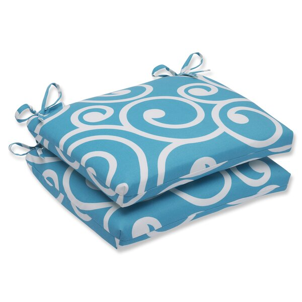 Best Indoor/Outdoor Dining Chair Cushion (Set of 2) by Pillow Perfect
