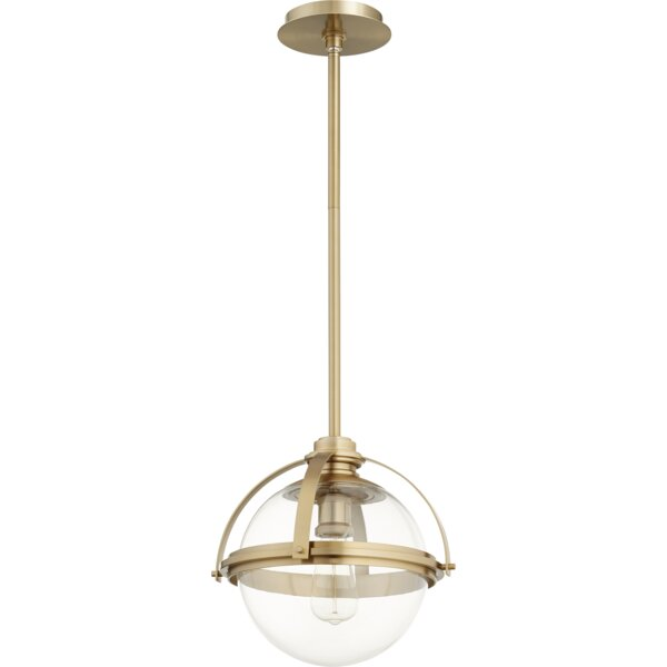 Doucet Meridian 1-Light Globe Pendant by Breakwater Bay