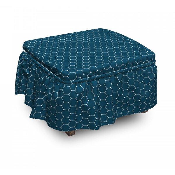 Cheap Price Box Cushion Ottoman Slipcover