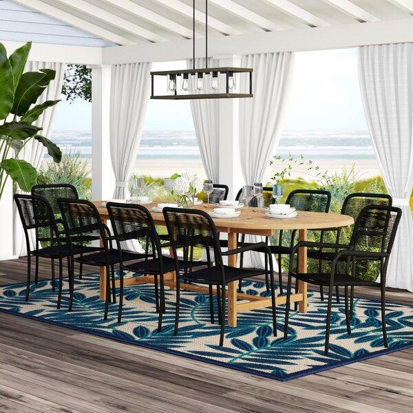 Nettleton 9 Piece Teak Dining Set by Beachcrest Home