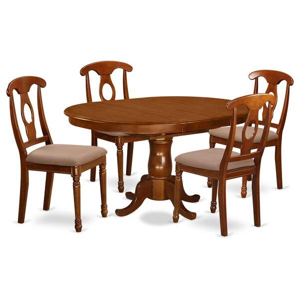 Portna 5 Piece Dining Set by East West Furniture