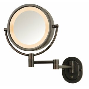 Lighted Wall Mount Makeup/Shaving Mirror