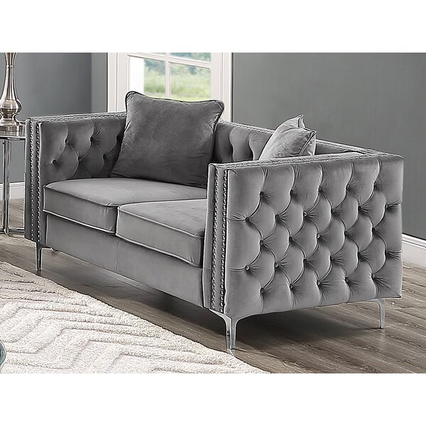 Martinelli Loveseat By House Of Hampton 2019 Sale