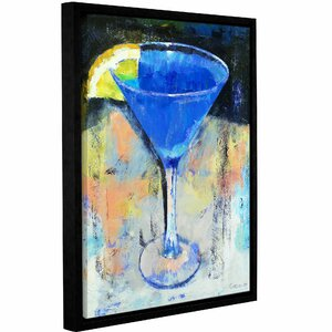 Royal Blue Martini Framed Painting Print by Ivy Bronx