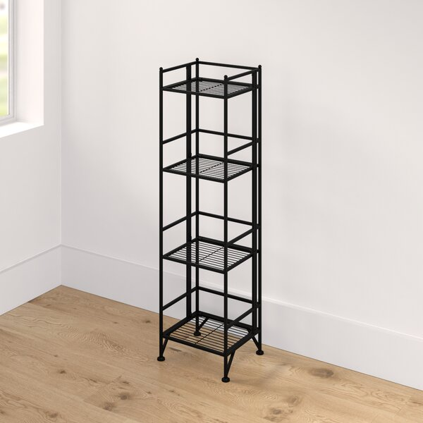Edwin 4 Tier Folding Etagere Bookcase by Zipcode Design