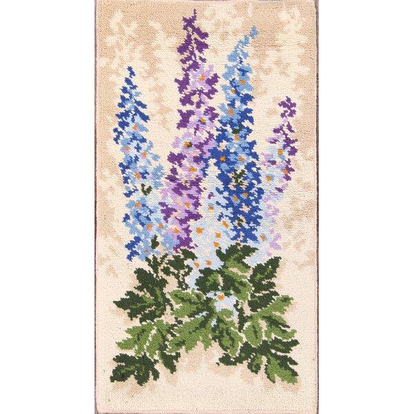 Ashlynn Rya Oriental Hand-Knotted Wool Beige/Green/Blue Area Rug by Darby Home Co