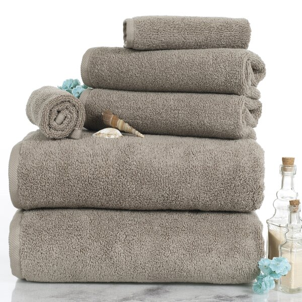 Parsley 6 Piece Egyptian-Quality Cotton Towel Set by Three Posts