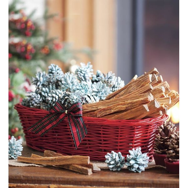 Fireside Gift Basket with Fire Starters by Plow & Hearth
