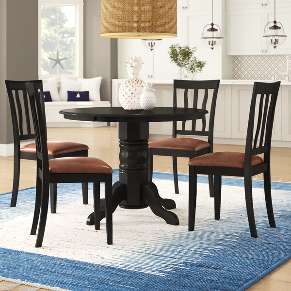 Langwater 5 Piece Pedestal Dining Set by Beachcrest Home