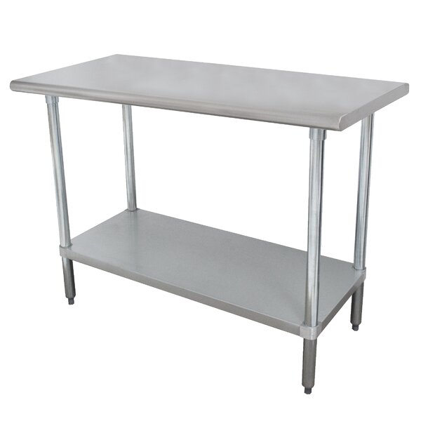 Wide Space-Saver Prep Table by Advance Tabco