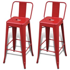 76cm bar stool set set of 2
