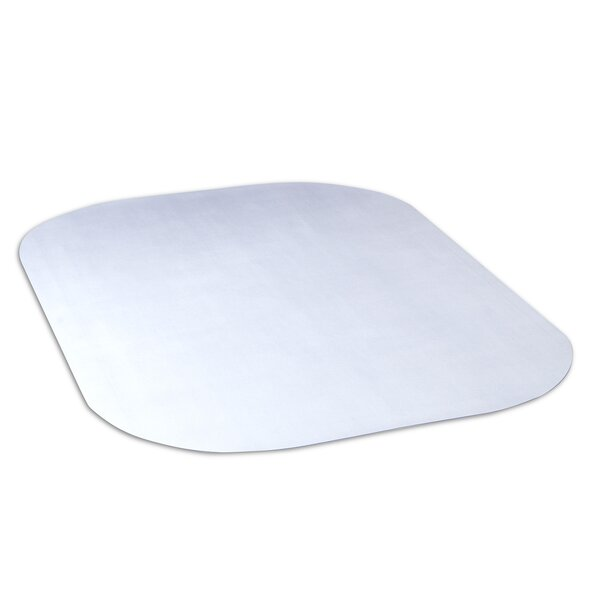 Evolve Modern Rectangle Office Hard Floor Beveled Edge Chair Mat by Dimex