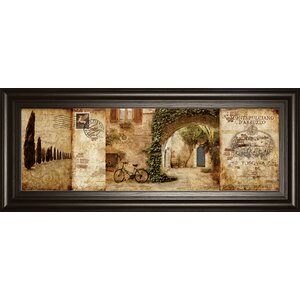 'Tuscan Courtyard' Framed Graphic Art by Fleur De Lis Living