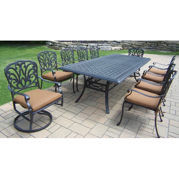 Bosch Metal 11 Piece Dining Set with Cushions by Darby Home Co