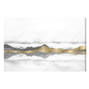 'Stood Still and Wondered Gold' Graphic Art Print on Wrapped Canvas by Mercury Row