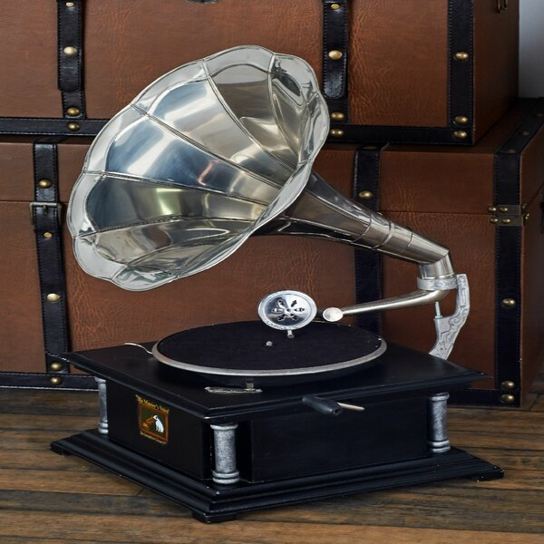 Wood Gramophone Sculpture by Cole & Grey