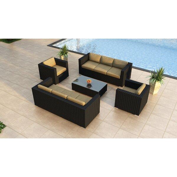 Urbana 5 Piece Double Sofa Set with Cushions by Harmonia Living