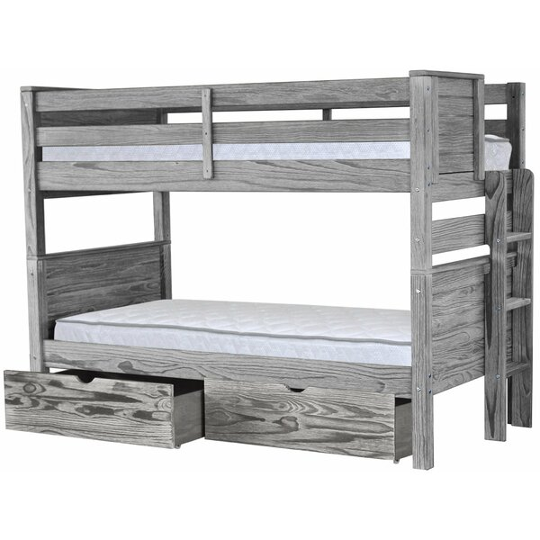 Folkeste Twin over Twin Bunk Bed with Drawers by Harriet Bee