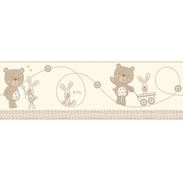 Fun4Walls Bear and Boo Neutral Wall Mural by WallPops!