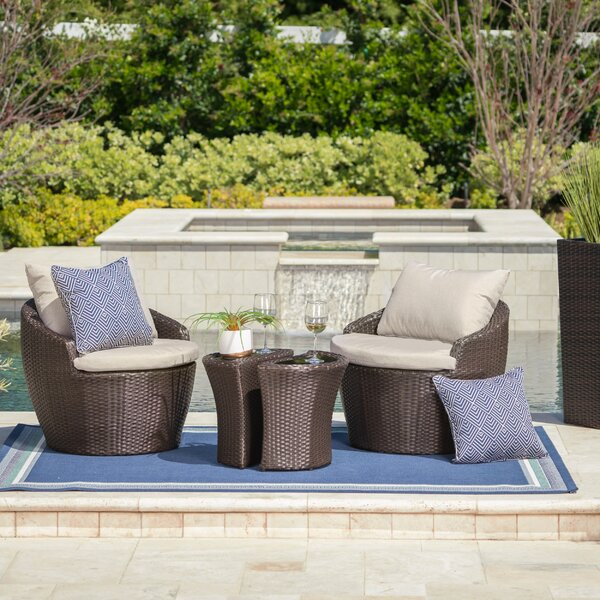 Cherita 3 Piece Conversation Set with Cushions by Zipcode Design
