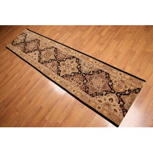 Affordable Price Debbie Traditional Wool/Silk Rust/Black/Gold Area Rug ByCanora Grey