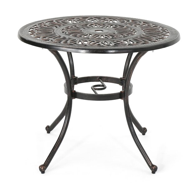 Stein Metal Dining Table by Bloomsbury Market