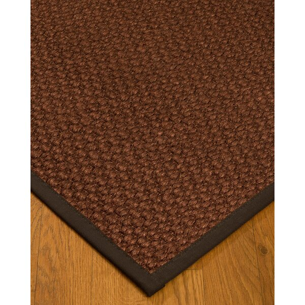 Kerrick Border Hand-Woven Brown/Fudge Area Rug by Bayou Breeze