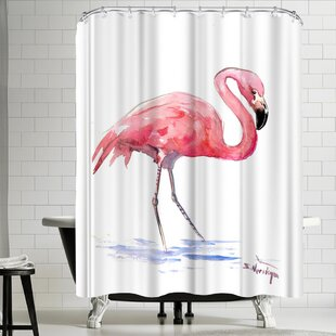 Comparison Suren Nersisyan Flamingo 3 Shower Curtain ByEast Urban Home