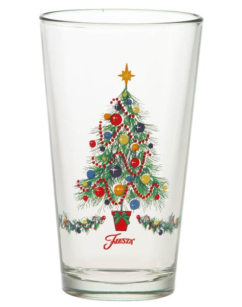 Christmas Tree 16 Oz. Tapered Glass (Set of 4) by Fiesta