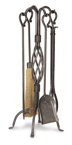 Center Basket Weave 5 Piece Fireplace Tool Set by Pilgrim Hearth