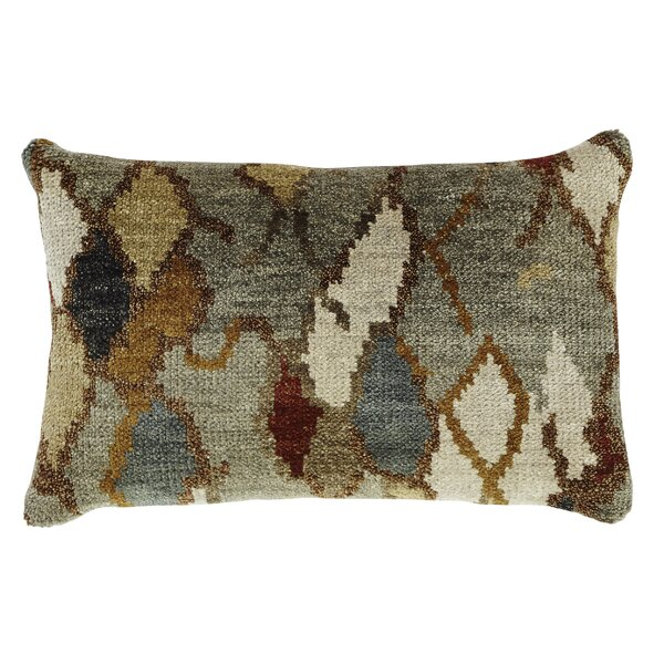 Aquavia Wool Lumbar Pillow by World Menagerie