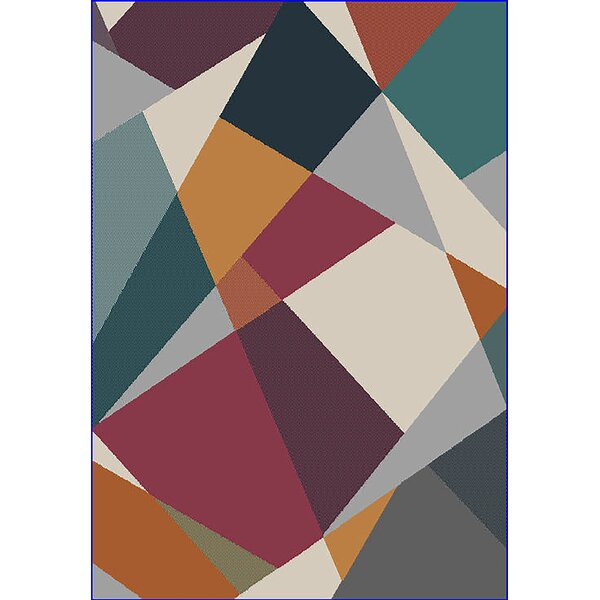 Eclipse 3D Modern Contemporary Green/Mocha Area Rug by Planet Rugs