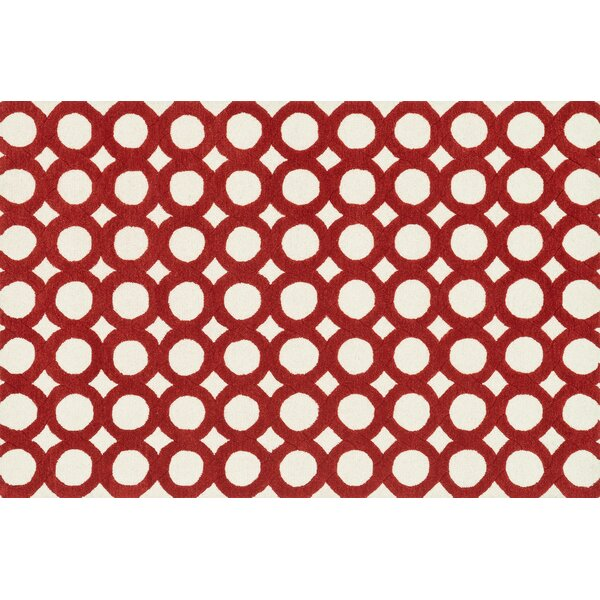 Maziarz Hand-Tufted Red/Ivory Area Rug by Ivy Bronx