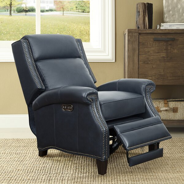 Yoakum Leather Power Recliner by Winston Porter