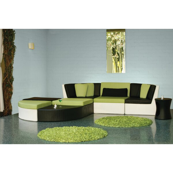 Coast 11 Piece Rattan Sectional Seating Group with Cushions
