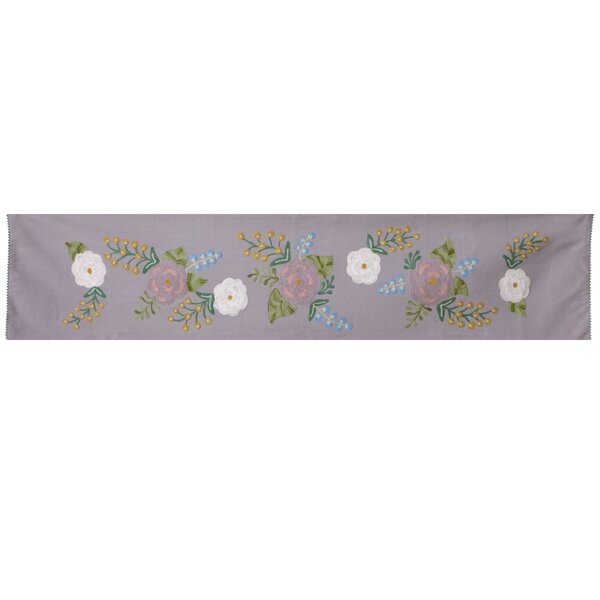 Cohutta Embroidered Floral Table Runner by August Grove