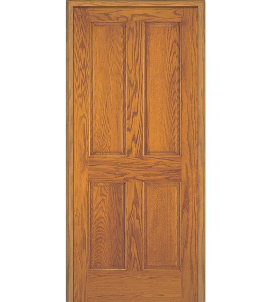 Stile and Rail 4 Panel Unfinished Prehung Door by Verona Home Design