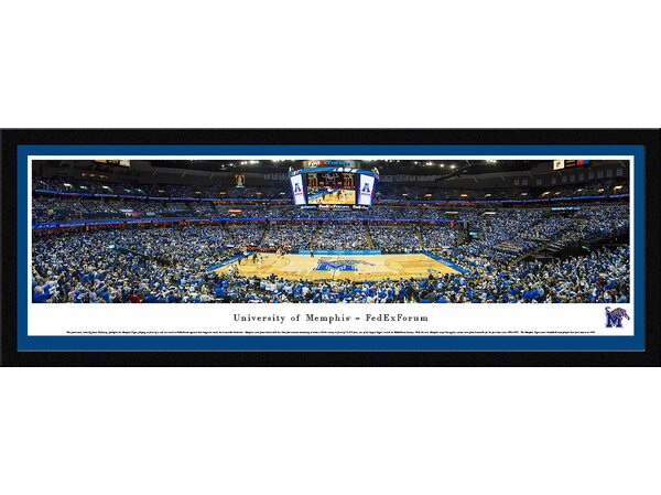 NCAA Memphis, University of - Fedexforum by James Blakeway Framed Photographic Print by Blakeway Worldwide Panoramas, Inc
