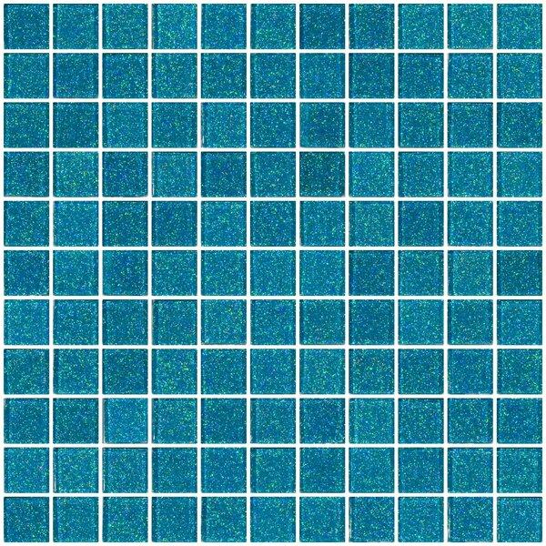 1 x 1 Glass Mosaic Tile in Cerulean Blue by Susan Jablon