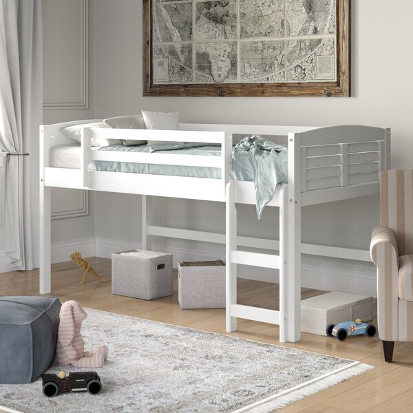 Manervia Twin Low Loft Bed by Three Posts Baby & Kids