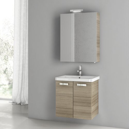 City Play 24 Wall-Mounted Single Bathroom Vanity Set by ACF Bathroom Vanities