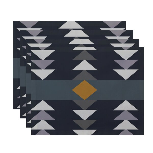 Bowne Sagebrush Geometric Print Placemat by Mercury Row