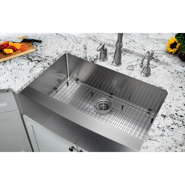 32.875 L x 20.75 W Single Bowl Farmhouse/Apron Kitchen Sink by Soleil