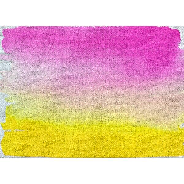 Watercolor Pink Area Rug